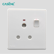15A Three Round Pin Switch Socket with Light
