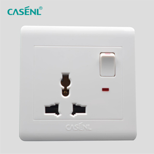 Three Pin Switch Socket with Light