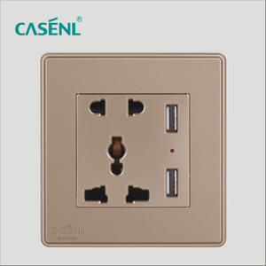 2USB And Two Three Pin Universal Socket